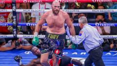 Тайсън Фюри нокаутира Дионтей Уайлдър и защити световната си титла