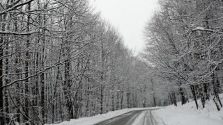 Слаб сняг вали на Троянския проход и Владая