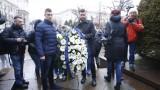 Звездите на Левски поднесоха цветя пред паметника на Апостола