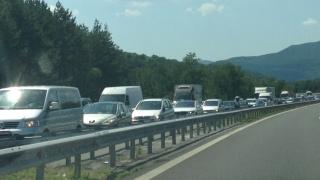 "Катастрофа предизвика задръстване на АМ ""Тракия"" в посока Бургас"