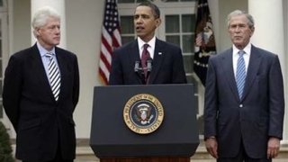 Обама, Буш и Клинтън заедно в помощ на Хаити