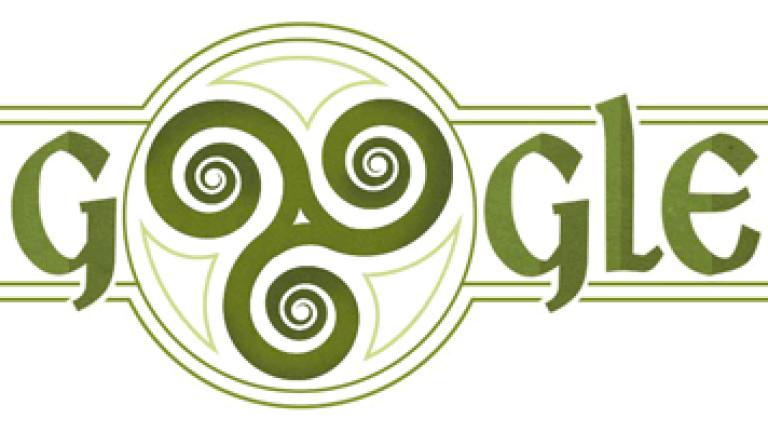 Google почете с doodle свети Патрик