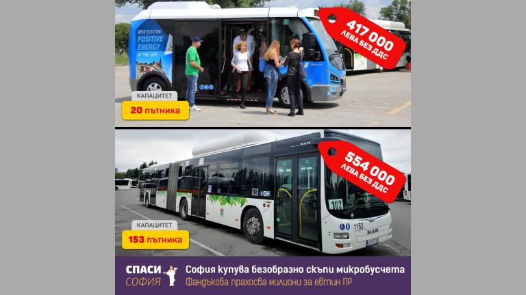 """""""Спаси София"""" пита Столичната община защо купува маршрутки за милиони"""