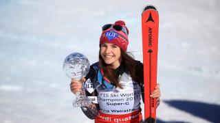 Първата победа на Тина Вайрайтер ѝ донесе малката Световна купа в Супер Г