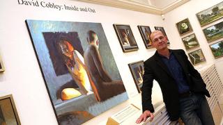Английска картина цензурирана от съвестен посетител в галерия.