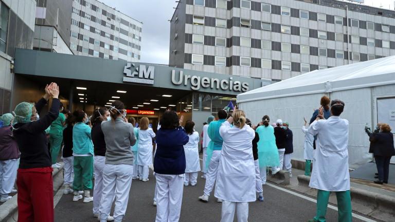 Починалите от коронавирус в Испания се увеличиха с 932 за