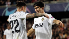 Валенсия - Манчестър Юнайтед, 2:1 (Развой на срещата по минути)
