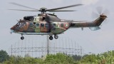 "Вертолет ""Кугър"" от авиобаза Крумово гаси пожар край Ямбол"