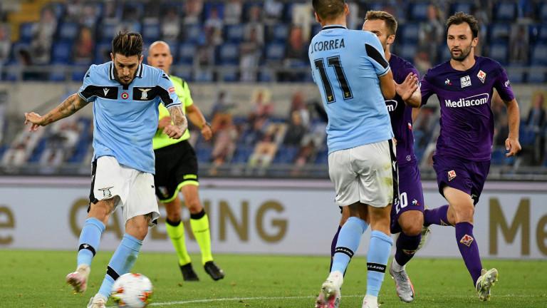 Лацио направи впечатляващ домакински обрат срещу Фиорентина и спечели с