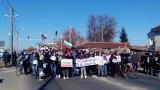 Протестиращи срещу биоцентрала блокираха пътя Пловдив – Карлово