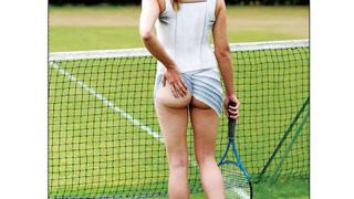 Голи спортистки изглеждат почти облечени след четката на британска художничка (галерия)
