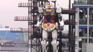 Гигантски робот направи първи крачки в японския град Йокохама