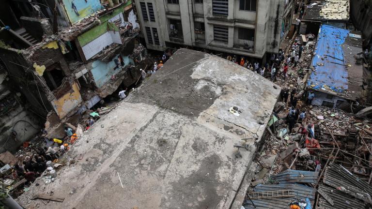 Броят на жертвите на инцидента със срутената сграда край Мумбай,