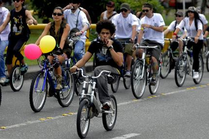 Вело поход в Колумбия в подкрепа на марихуаната