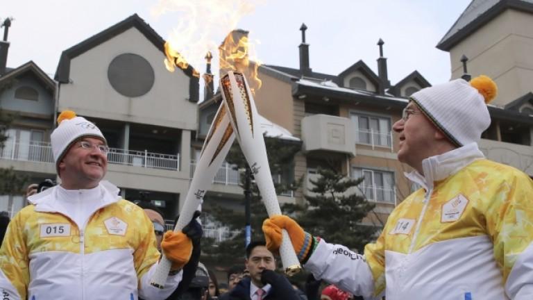 Бах с олимпийския огън в ръце: Велика емоция и очакване