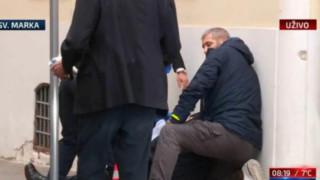 Полицай е ранен при нападение с АК-47 срещу парламента на Хърватия