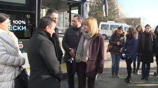 Втори електробус тръгва из София