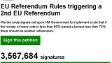 Над 3,5 млн. подписа събрани за нов референдум в Обединеното кралство