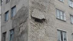 Падна стена на жилищна сграда в Бургас