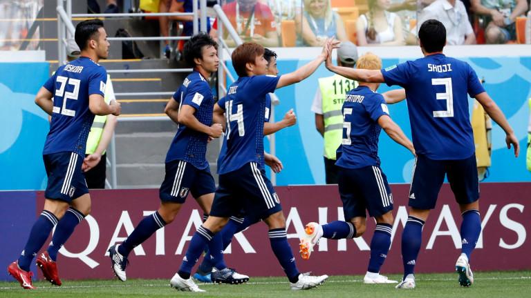 Колумбия 1 : 2 Япония 86′ Жълт картон за Хамес