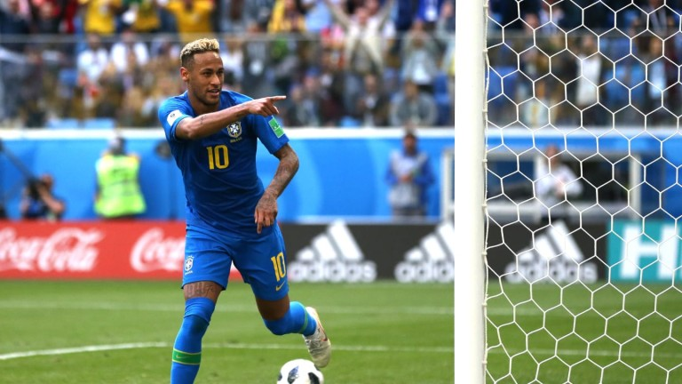 Звездата на Бразилия Неймар днес вкара първия си гол на
