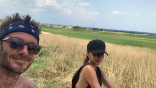 Какво празнуват семейство Бекъм в Италия