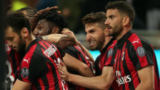 """Милан излъга Лацио в голямото дерби от кръга в Серия """"А"""""""