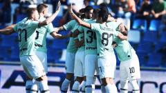 """Интер едва не пропиля три гола аванс срещу Сасуоло, остава на второ място в Серия """"А"""""""