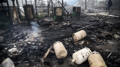 """Разгневени мигранти изпепелиха лагера """"Джунглата"""" в Кале"""