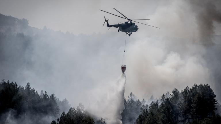 Пожарът край Кресна отново се разгоря