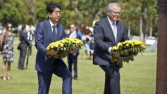 Абе е първият премиер на Япония, посетил Дарвин след атаките през ВСВ