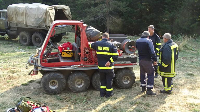 Разраства се пожарът в Стара планина над Чипровци до границата