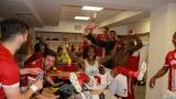 ВИДЕО: Луда радост в съблекалнята на ЦСКА след боя над Левски