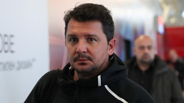 Старши треньорът на ЦСКА Милош Крушчич говори при завръщането на