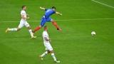Франция – Исландия 5:2 (Развой на срещата по минути)