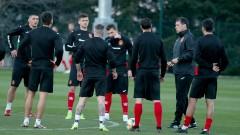 Националите тренираха за първи път преди мача с Черна гора