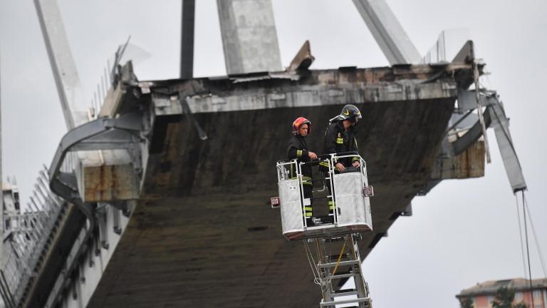 """38 души са загинали при срутването на моста """"Моранди"""""""