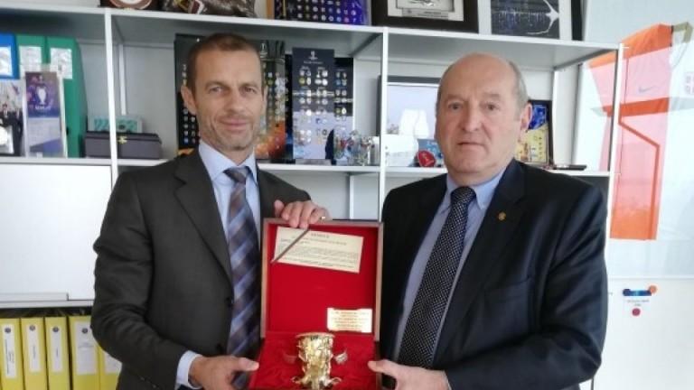 Временният президент на БФС Михаил Касабов се срещна с боса