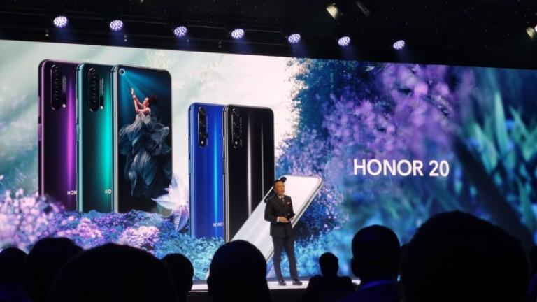 Снимка: Honor показа нов модел с четири камери и най-широката бленда в телефон