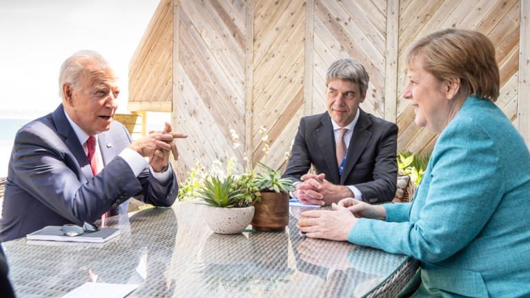 """Меркел обясни на Байдън позицията си за """"Северен поток 2"""""""
