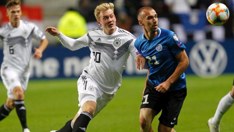 Германия победи Естония с 3:0 в мач от група