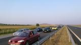 """Километрична колона задръсти магистрала """"Тракия"""" при Пазарджик"""