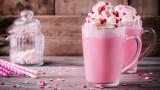 Горещ шоколад, но с розов цвят
