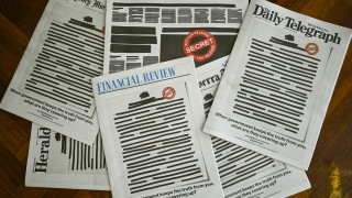 Вестниците в Австралия цензурираха първите си страници