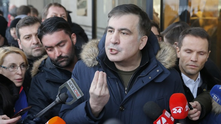 Саакашвили изгонен в Полша