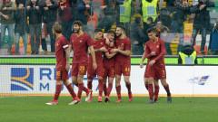 """Рома излезе на трето място в Серия """"А"""" след победа над Удинезе (ВИДЕО)"""