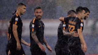 """Рома съсипа Верона под дъжда на """"Олимпико"""" (ВИДЕО)"""
