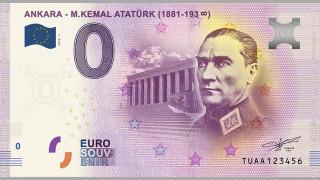 Отпечатаха нова евробанкнота с лика на Кемал Ататюрк