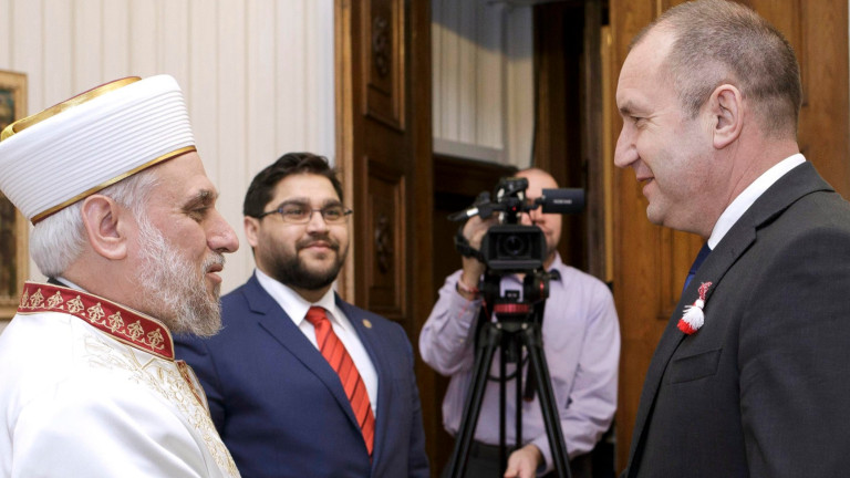 Да не допускаме политизация на религията, заяви Румен Радев на среща с Мустафа Хаджи