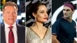Арнолд Шварценегер, Роджър Федерер, Анджелина Джоли и даренията, които направиха